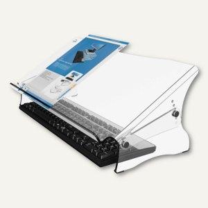 Dokumentenhalter Ergo-doc Plus, Acryl, 536 x 278 x 160-235 mm höhenverstellbar