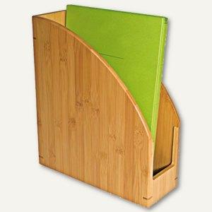 Wedo Stehsammler Bambus, DIN A4, 26.5 x 10 x 30 cm, natur-braun, 611307