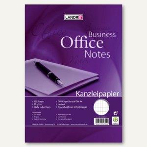 Kanzleipapier BUSINESS OFFICE NOTES, DIN A3 auf A4 gefalzt, rautiert, 250 Blatt