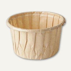 """Backformen """"pure"""" - umweltfreundlich, 105 ml, Ř 7 x H 4 cm, braun, 700 Stück"""