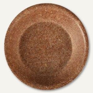 Schalen, 350 ml, Ř 20 x 3.7 cm, Weizenkleie/100% abbaubar, braun, 100 Stück