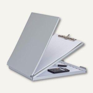 Schreibplatte MAULcase mit Aufbewahrungsfach, DIN A4, 32 x 23.7 cm, Alu, silber
