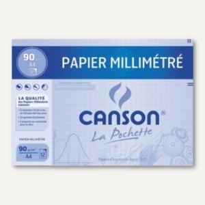 Canson Millimeterpapier, DIN A4, 90 g/qm, dunkelbraun, 12 Blatt, C200067115