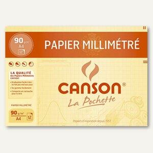 Canson Millimeterpapier, DIN A4, 90 g/qm, blau, 12 Blatt, C200067116