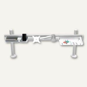 ViewLite Schienensystem m. Kabelkanal Schreibtisch, 1.200 mm lang, silber-weiß
