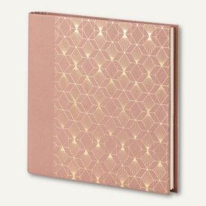 Gästebuch / Fotoalbum ART DECO, 230 x 220 mm, 60 Seiten, rosewood, 2er Pack