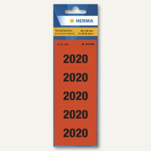 Ordner-Inhaltsschild Jahreszahlen 2020