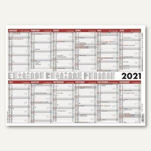 Zettler Jahresübersicht A3, 2 Halbjahre / 1 Seite, 420 x 297 mm, 933-0011