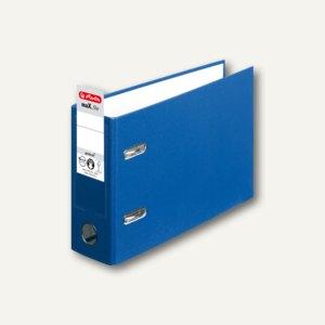 Herlitz PP-Ordner maX.file protect DIN A5 quer, Breite 75 mm, blau, 10842359