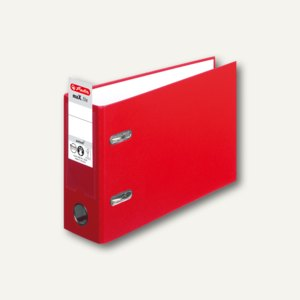 Herlitz PP-Ordner maX.file protect DIN A5 quer, Breite 75 mm, rot, 10842342