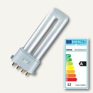 Leuchtstofflampe DULUX S/E, kompakt, Sockel 2G7, 9W, 230V, 4000K, 600lm, 020174