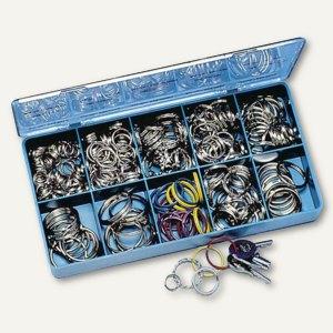 Stahl-Schlüsselringe in verschiedenen Ausführungen