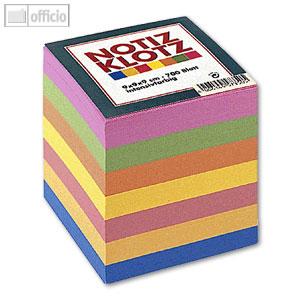 Zettelklotz farbig 9x9x9cm