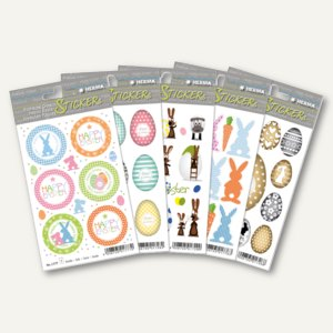 Herma Ostersticker, Papier/Seide/Folie, 5 Sets = 122 Sticker, 15528