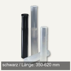 Versandrolle Drehpack, Länge 350-620 mm verstellbar, Kunststoff PE, schwarz