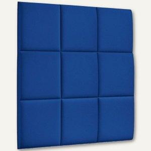 Akustik-Wandpaneel, 60 x 60 cm, schallabsorbierend, magnetisch, Filz/Vlies, blau
