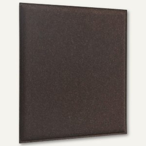 Akustik-Deckenpaneel, 62 x 62 cm, schallabsorbierend, Filz/Vlies, braun, 2 St.