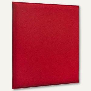 Akustik-Deckenpaneel, 62 x 62 cm, schallabsorbierend., Filz/Vlies, feuerrot, 2 S