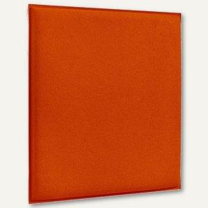 Akustik-Deckenpaneel, 62 x 62 cm, schallabsorbierend, Filz/Vlies, orange, 2 St.