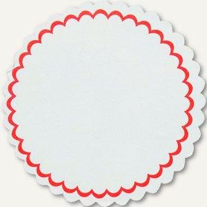 officio Siegelsterne, (Ř)51 mm, gummiert, Papier, weiß/rot, 1.000 Stück, 1918321