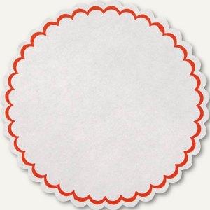 Siegelsterne, (Ř)55 mm, selbstklebend, Papier, weiß/rot, 700 Sück, 3828571