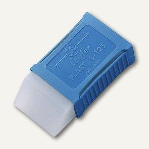 Läufer Radiergummi Plast L-125, Kunststoffmanschette, 48 x 24 x 11 mm, 0125