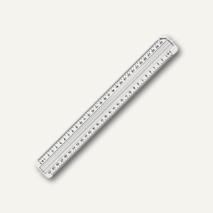 Lineal 30 cm mit Griffleiste transparent