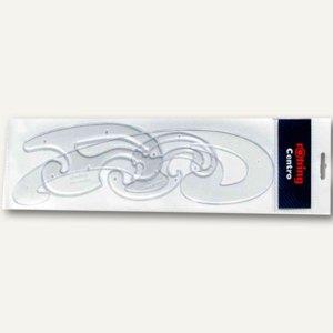 Rotring Burmester-Kurvensatz, 3-tlg., Kunststoff, glasklar, S0221301