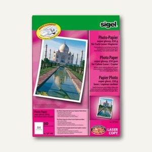 DIN A4 135 g//qm sigel Foto-Papier 2-seitig glossy