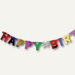 Partygirlande Happy Birthday - (L)1.5 m