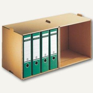 LEITZ Archiv-Depot für Ordner DIN A4, 72 x 34 x 30 cm, 5 Stück, 6082-00-00