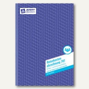 Formular Reisekostenabrechnung - monatlich + KFZ-Kosten, DIN A4 hoch, 741