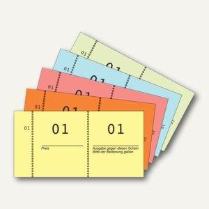 Zweckform Nummernblock 1-100, farbig sortiert, 868