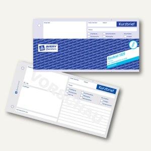Avery Zweckform Formular Kurzbrief 13 Din A4 100 Blatt 1020