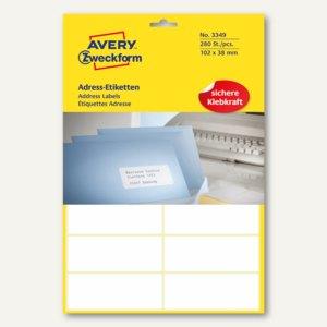 Adress-Etiketten f . Schreibmaschine