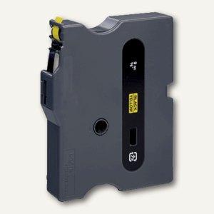 Beschriftungsband 9 mm, schwarz auf gelb, TX-621