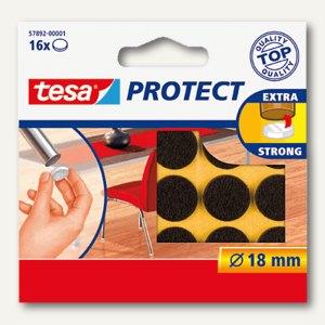 Tesa Filzgleiter rund, r 18 mm, braun, 16 Stück, 57892-00001-00