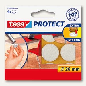 Tesa Filzgleiter rund, r 26mm, weiß, 9 Stück, 57894-00000-00