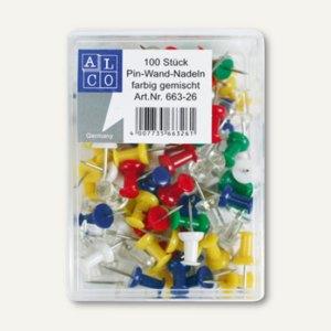 100 Pinnwandnadeln farbig