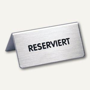 """Durable Tischaufsteller mit Aufschrift """"Reserviert"""", 85 x 36 mm, 4960-61"""