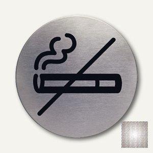 Edelstahl-Piktogramm Rauchen verboten