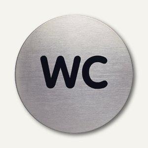 Edelstahl-Piktogramm WC