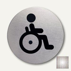 """Edelstahl-Piktogramm """"Behinderten-WC"""","""