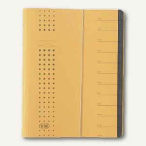 Elba chic-Ordnungsmappe, DIN A4, 12 Fächer, gelb, Karton 450 g/qm, 400001991