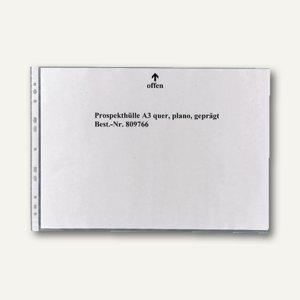 100 Prospekthüllen DIN A3 quer genarbt 80my