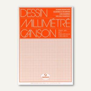 Canson Millimeterpapier-Block DIN A4, 90 g/m˛, weiß/orange, 50 Blatt, 67501