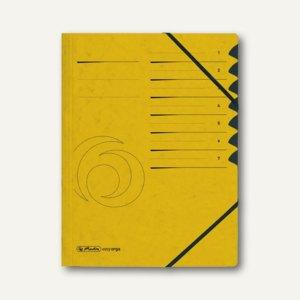 Elba Ordnungsmappe Sammelmappe Eckspannmappe chic A4 7Fächer Karton gelb
