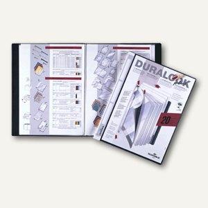 Durable Duralook Plus Sichtbuch DIN A4 mit 40 Hüllen, schwarz, 2434-01