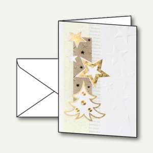 Weihnachtskarten White Christmas inkl. Umschläge A6