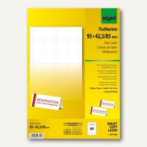 Tischkarten 95 x 42/85 mm
